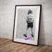Street Art Poster - Boy Peeing Pink