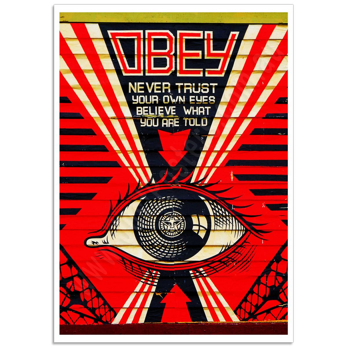 Street Art Poster - Never Trust Your Own Eyes