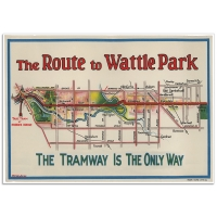 Melbourne Map Poster - The Route to Wattle Park