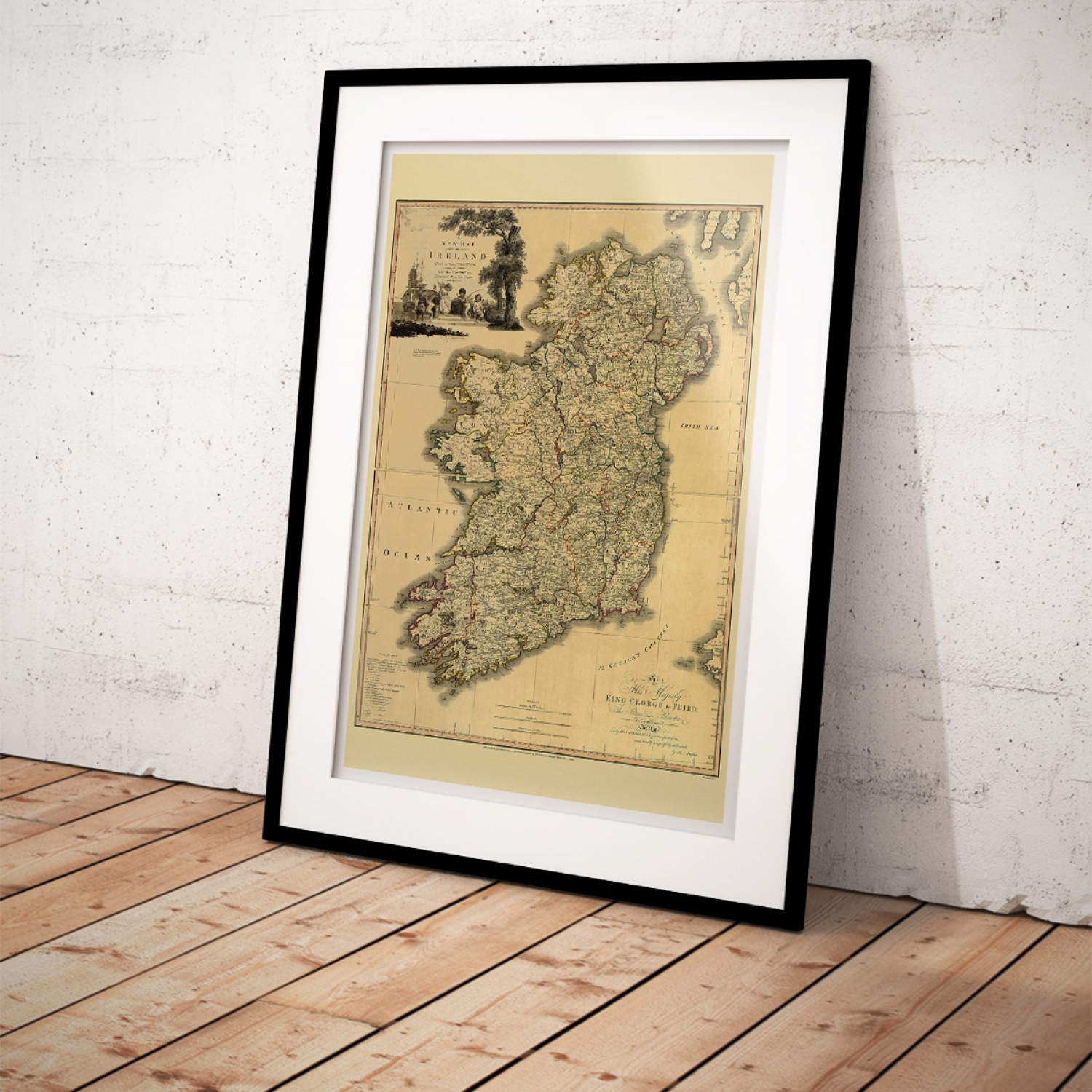 Map Of Ireland Poster.Memoir Of A Map Of Ireland 1797 Rare Vintage Map Just Posters