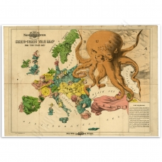 Vintage Map Poster - Serio-Comic War Map