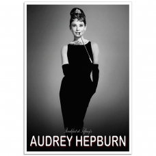 Hollywood Photographic Poster - Audrey Hepburn, Breakfast at Tiffanys