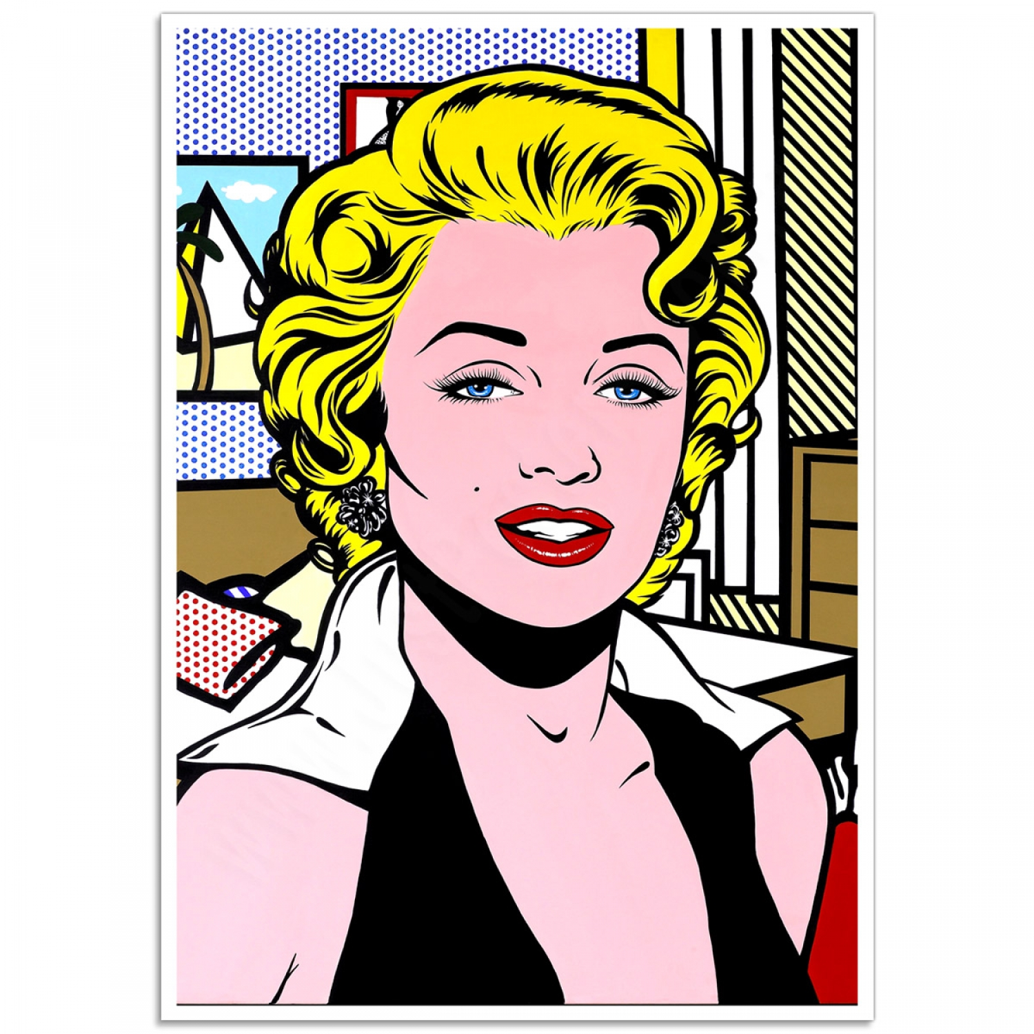 marilyn monroe norma jeane pop art print just posters. Black Bedroom Furniture Sets. Home Design Ideas
