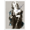 Hollywood Photographic Poster - Marilyn Monroe Illustration