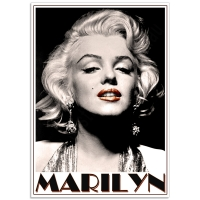 Hollywood Photographic Poster - Marilyn Portrait