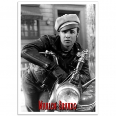 Hollywood Photographic Poster - Marlon Brando - The Wild One