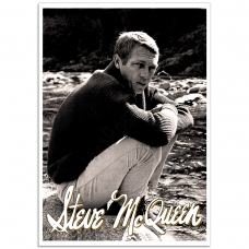 Hollywood Photographic Poster - Steve McQueen, King of Cool