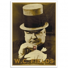 Hollywood Photographic Poster - W.C. Fields-Poker Face 1935