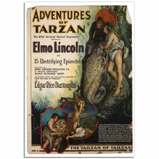 Movie Poster - The Adventures of Tarzan (1921)