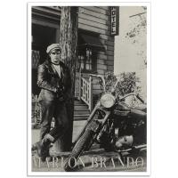 Hollywood Photographic Poster - Brando - Wild One (1953)