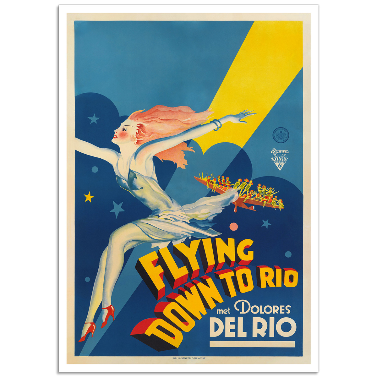 Flying Down to Rio - Dutch Film Poster