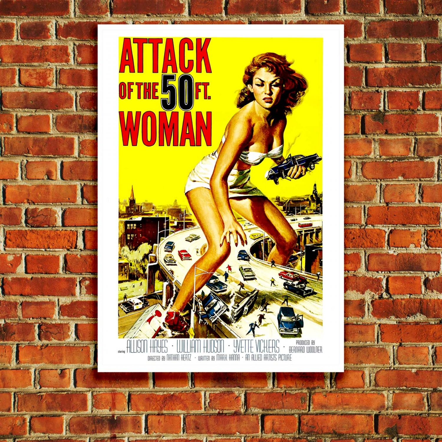 attack of the 50 foot woman retro movie poster just posters. Black Bedroom Furniture Sets. Home Design Ideas