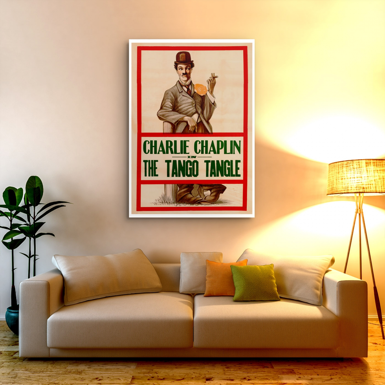 """Tango Tangles"" Charlie Chaplin | Vintage Movie Poster ..."