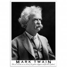 People Poster - Photograph of Mark Twain 1909