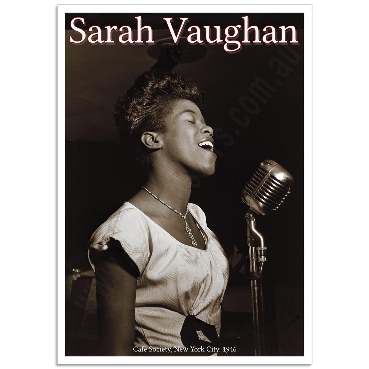 People Poster - Sarah Vaughan (Sassy)