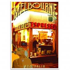Melbourne Poster - Pellegrini's Espresso Bar