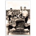 Australian Photographic Poster - Mates in a Model-T Ford
