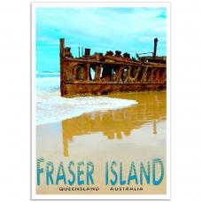 Australian Photographic Poster - Maheno Wreck, Queensland