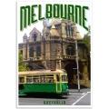 Melbourne Poster - Old Green Tram