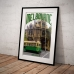 Melbourne Poster - Old Green Tram