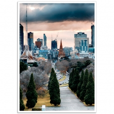 Melbourne Poster - Melbourne-Shrine View