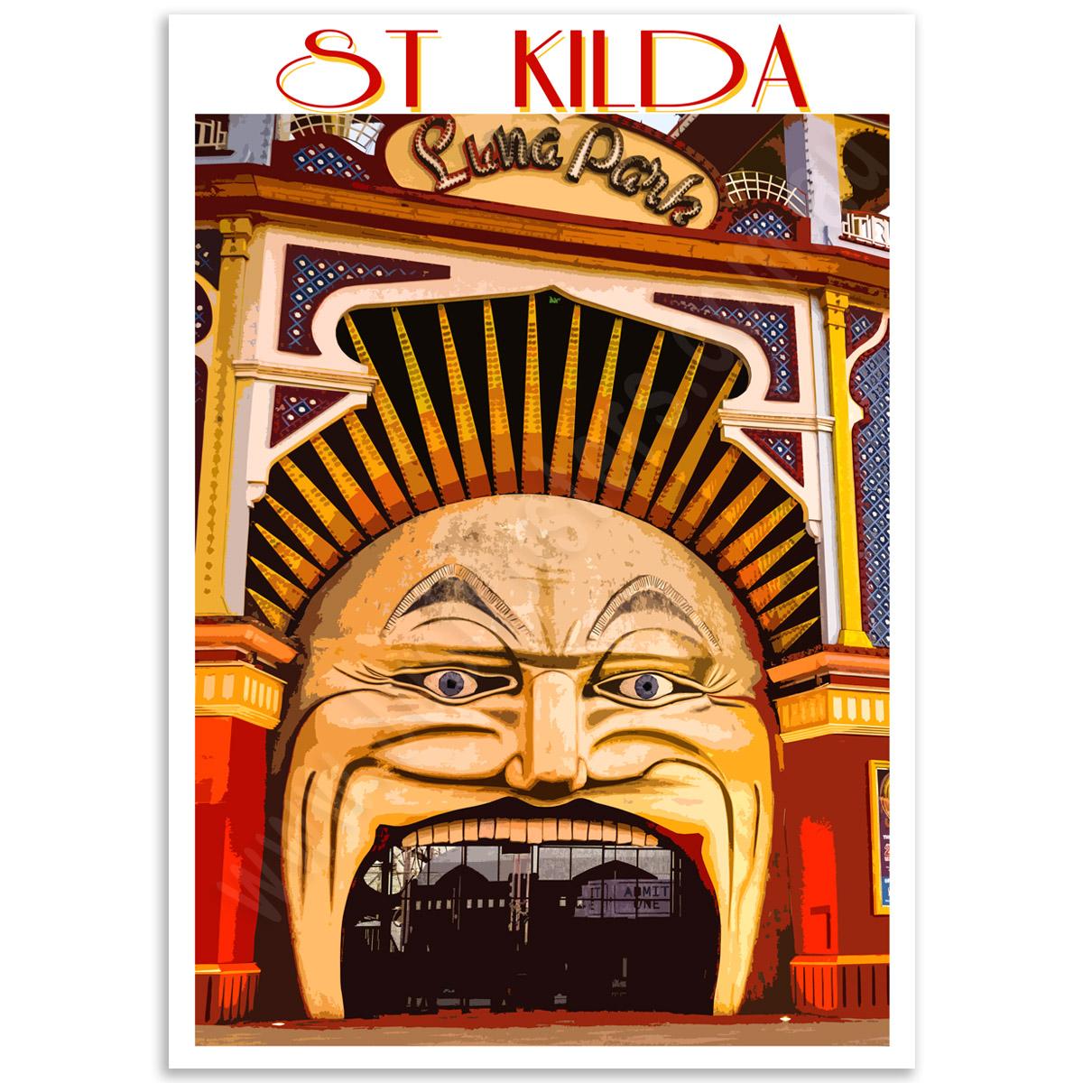 Melbourne Poster - Luna Park, St Kilda