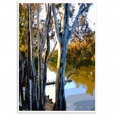 Melbourne Poster - Yarra River Print