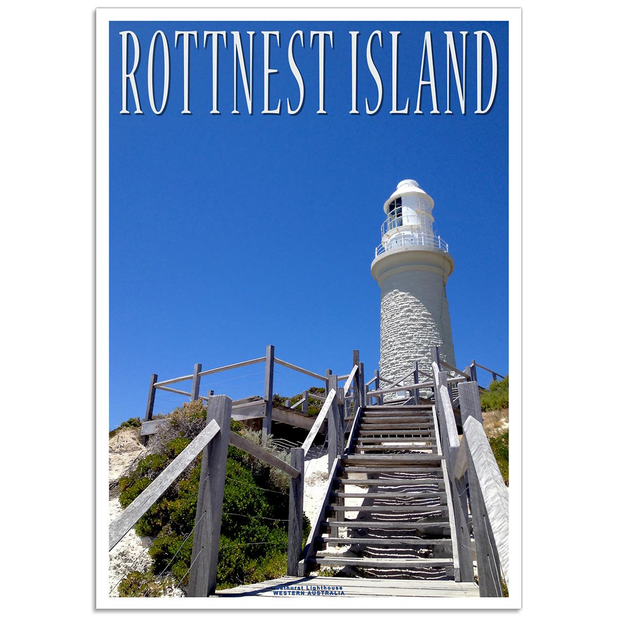 Australian Photographic Poster - Bathurst Lighthouse Rottnest Island