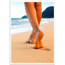 Photographic Poster - Barefoot on the Beach