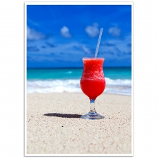 Photographic Poster - Fruit Cocktail on the Beach