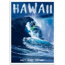 Photographic Poster - Hawaii North Shore Big Surf