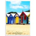 Australian Photographic Poster - Brighton Beach Huts, Victoria
