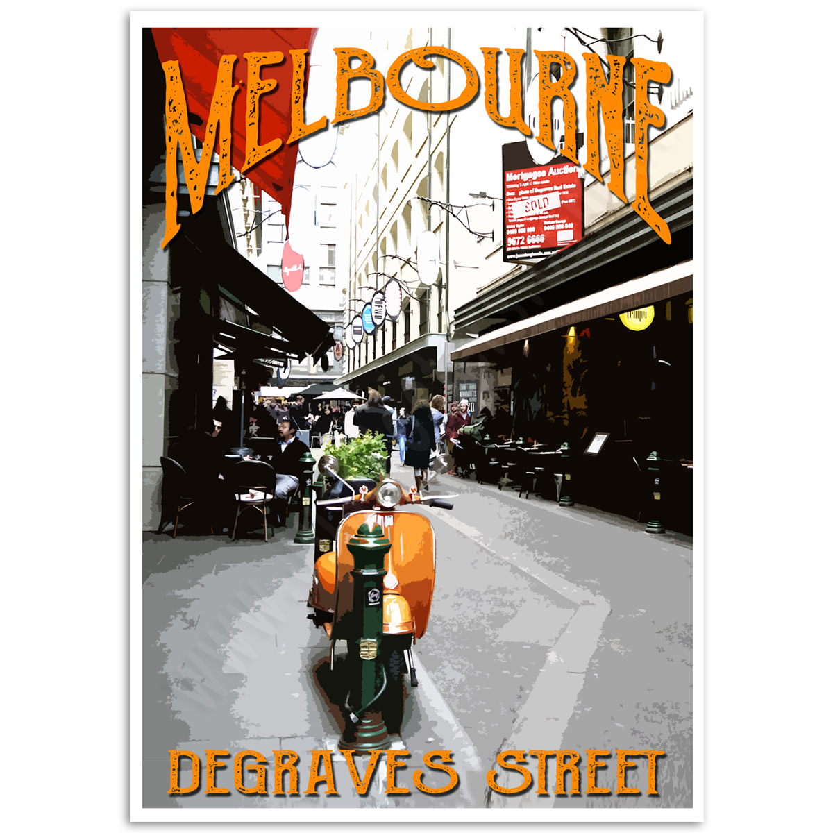 Melbourne Poster - Degraves Street