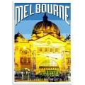 Melbourne Poster - Flinders Street Station