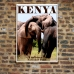 Wildlife Photographic Poster - African Elephants Embrace