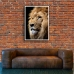 Wildlife Photographic Poster - Lion, King of Beasts
