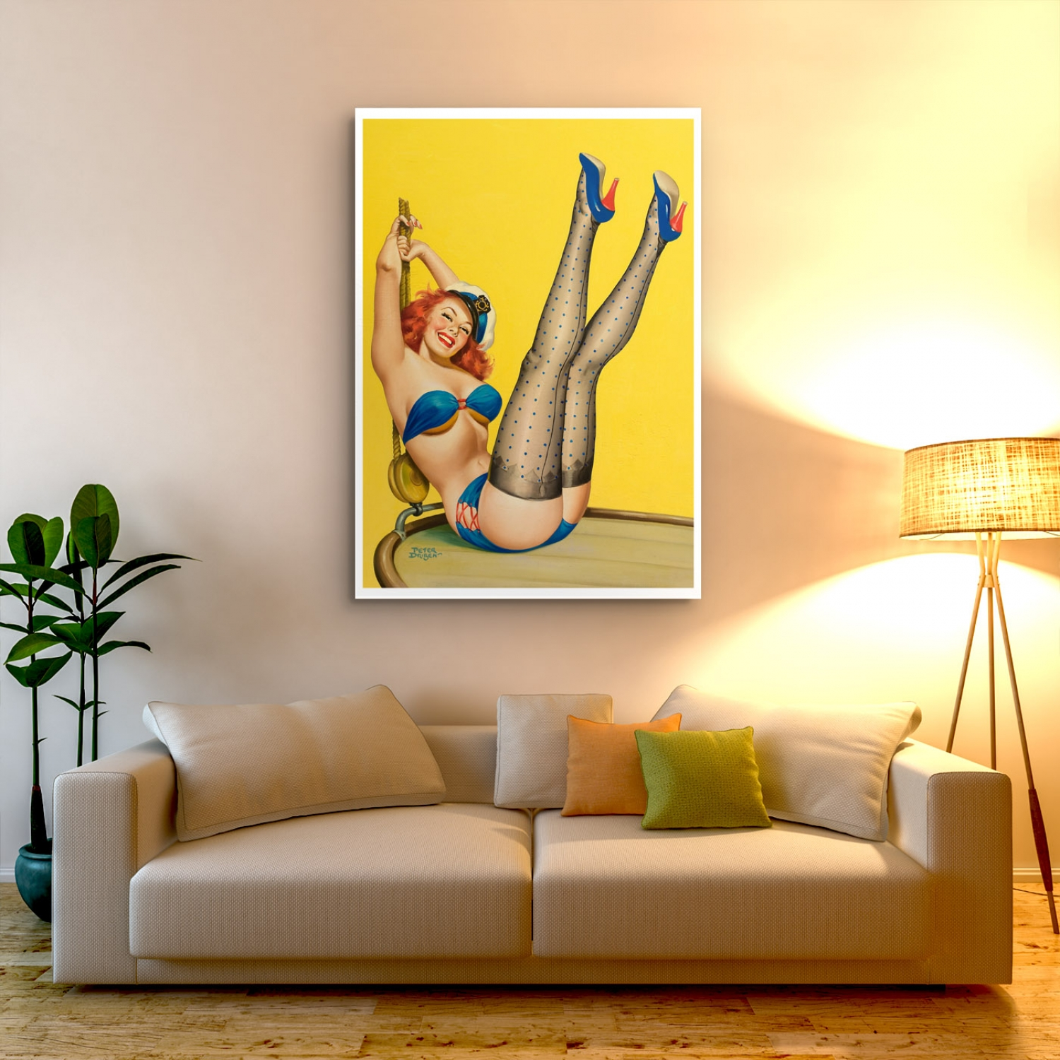 First Mate | Retro Pinup Girl Poster | Just Posters.com.au