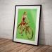 Pinup Girl Poster - Girl on a Bike
