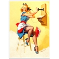Pinup Girl Poster - On the Telephone