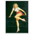 Pinup Girl Poster - Over the Fence