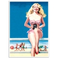 Pinup Girl Poster - On the Beach