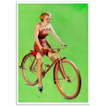Pinup Girl Poster - Girl on a Bike