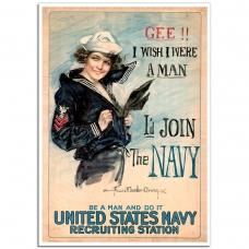 WW1 Recruitment Poster - US Navy Girl