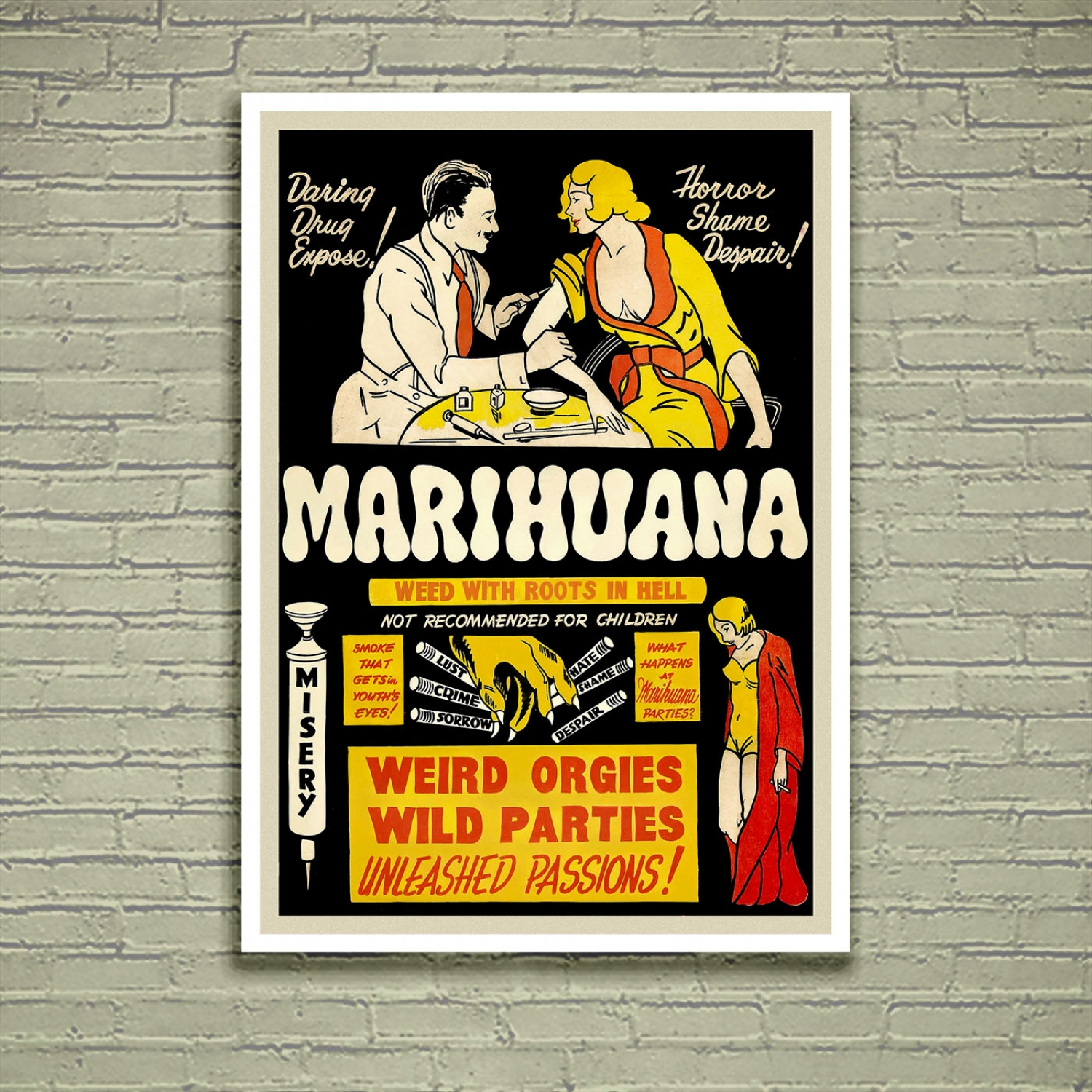 Marihuana - Weed with Roots in Hell | Vintage Propaganda ...