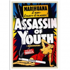 Vintage Propaganda Poster - Marihuana Assassin of Youth
