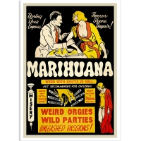 Vintage Propaganda Poster - Marihuana - Root From Hell