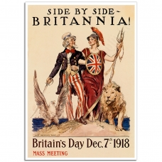 WW1 Poster - Side by Side Britannia