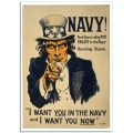 WW1 Recruitment Poster - Navy! Uncle Sam is Calling You