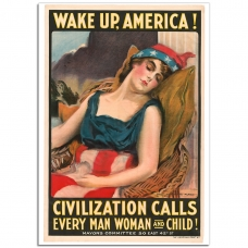WW1 Poster - Wake up America