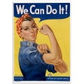 Vintage Propaganda Poster - We Can Do It. Rosie the Riveter